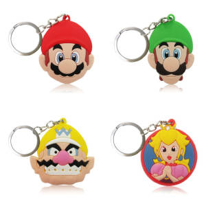 Cartoon Keychain Keyring Key-Cover Jewelry Gift Kids 20pcs/Lot Party-Favor PVC