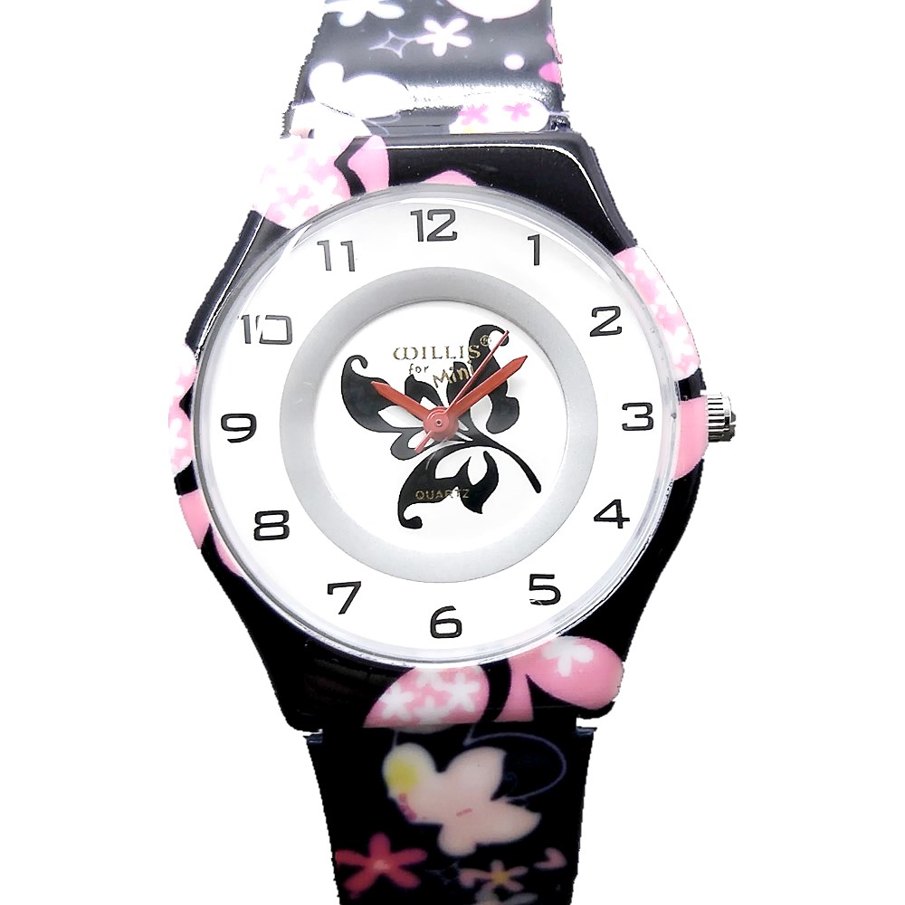 WILLIS Ladies Bracelet Watches Butterfly Women Fashion Watch Ultra Thin Dial Dresses Silicone Watchbands Quartz Wristwatches weiqin w3224 shell dial ultra thin ceramic women quartz watch