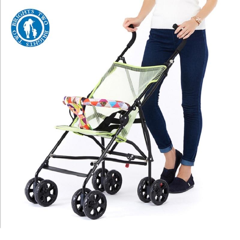 Sozzy Горячая продажа переносная, для прогулок с малышом ручной складной зонтик автомобиля складной простой складной детский четырехколесная тележка - 5