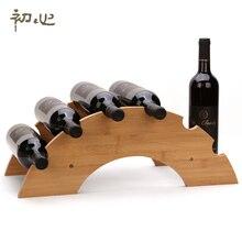Gohide A Bamboo Wooden Bridge Style DIY Wine Rack European Fashion Personality Red Wine Display Shelf Wine Holder Ornament 81014