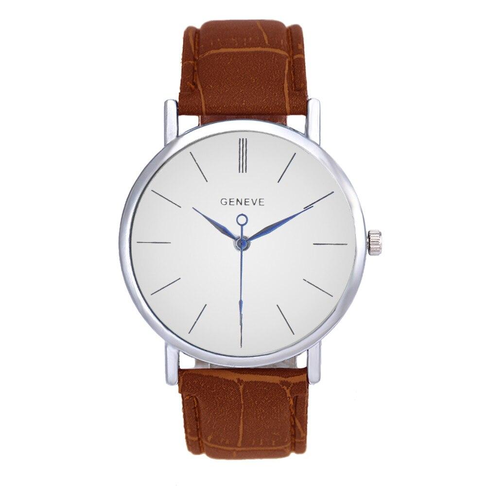 Unisex Business Wrist Watch Men Women Fashion Leather Band Analog Quartz Watch Mens Simple Roman Numerals Dial Watches Reloj #Ni