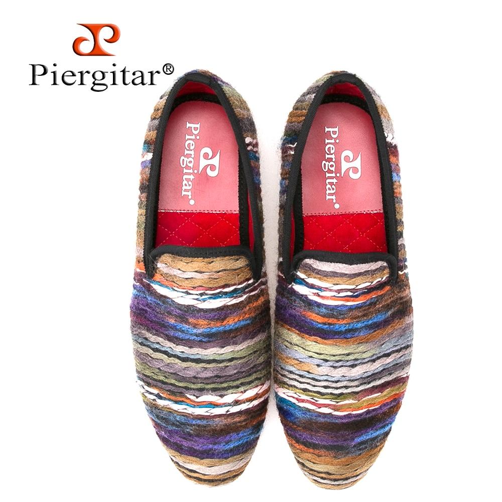 Rich color men cotton fabric shoes retro and fashion men loafers British style casual smoking slipper Plus size men's flat color rich