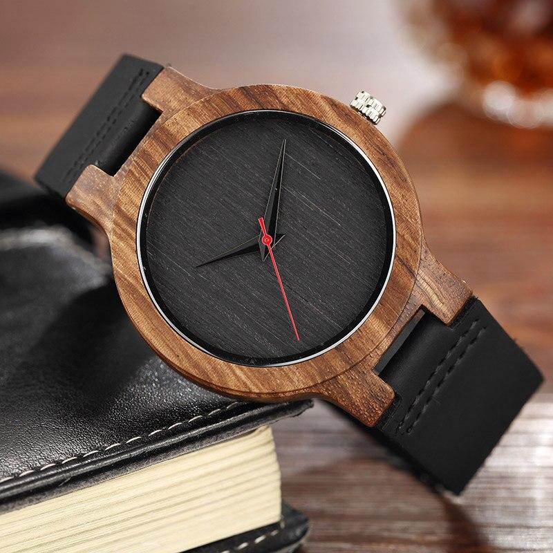 купить Quartz Watches Wood Mens Clock Unique Design Top Luxury Brand Wooden Bamboo Sport Wrist Watch Black Face Hodinky Man Women 2017 по цене 658.22 рублей