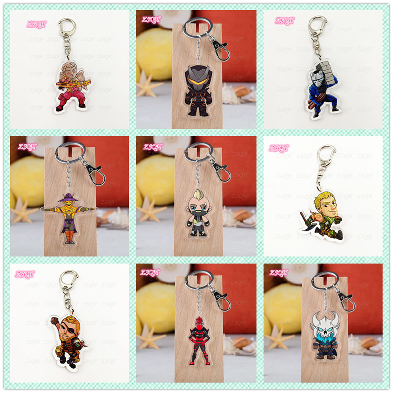 ZSQH Fortnited Battle Royale children Action Figure FORTNIGHT Model FORTNIGHT SKIN Acrylic Keychain Kids Christmas Gifts Toy
