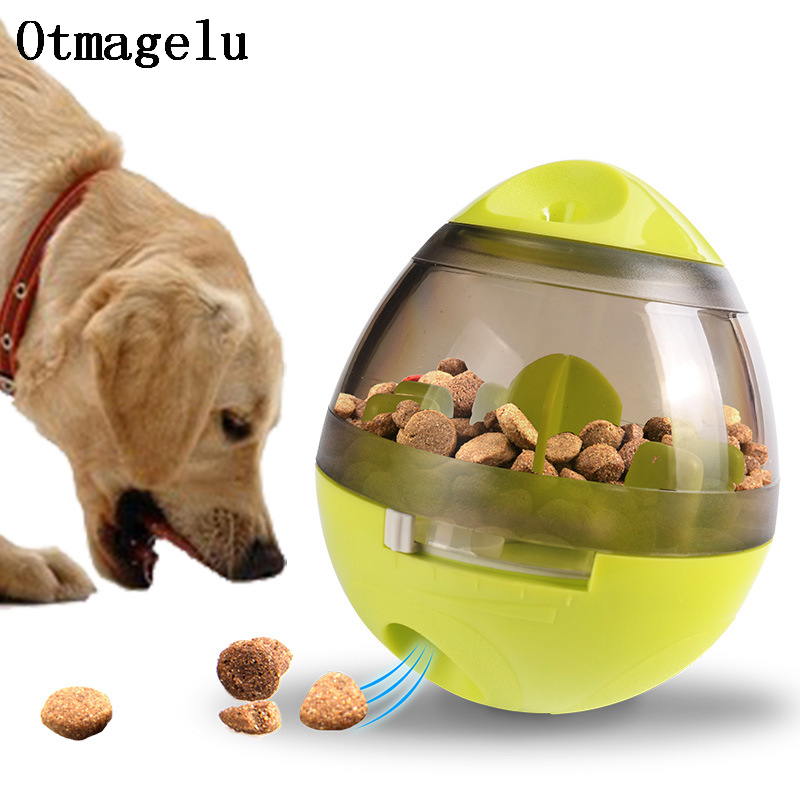 Funny Plastic Pet Feeder Tumbler Food Container Pet Dog  Bowl Treat Bottle Keeper Interactive Dog Cat Puzzle Food Reward Feeder 1