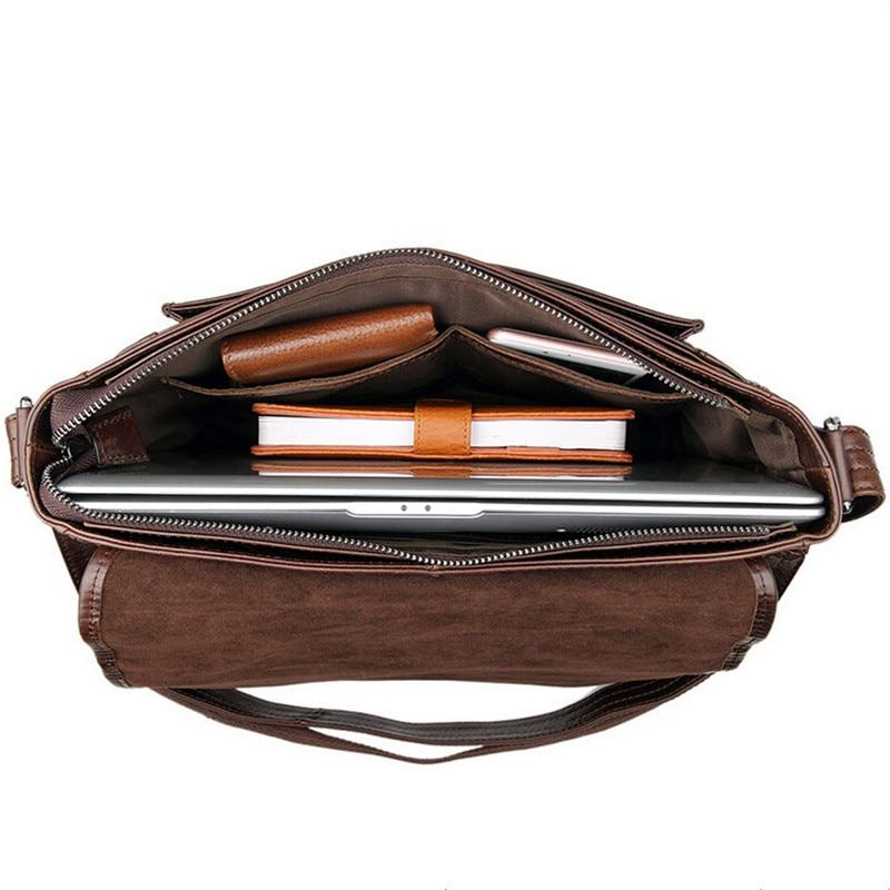 Bolso bandolera de cuero genuino de los hombres de la moda Bolso de - Bolsos - foto 5