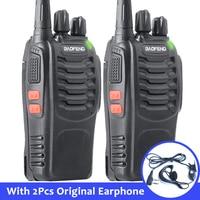 "2pcs baofeng bf 888s 2pcs Baofeng-888s BF Portable 888s BF מכשיר הקשר 16CH שני הדרך רדיו UHF 400-470MHz 2 יח ציד מקמ""ש עם אוזניות (1)"