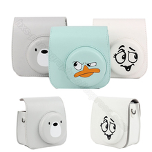 Fujifilm Instax Mini Camera Case Bag for Fuji 9 8 with Soft PU Leather - Duckling, Funny Face and Bear