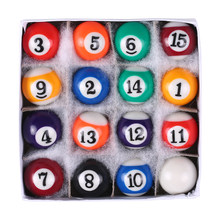 New Children Billiards Table Balls sets Mini Billiards Table Balls Set Small Pool Cue Balls Full Set Snooker 25MM 32MM 38MM(China)