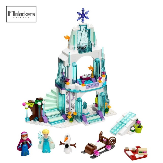 Mailackers 25005 Legoing Ice Castle Doll House Elsa Lepin Friends
