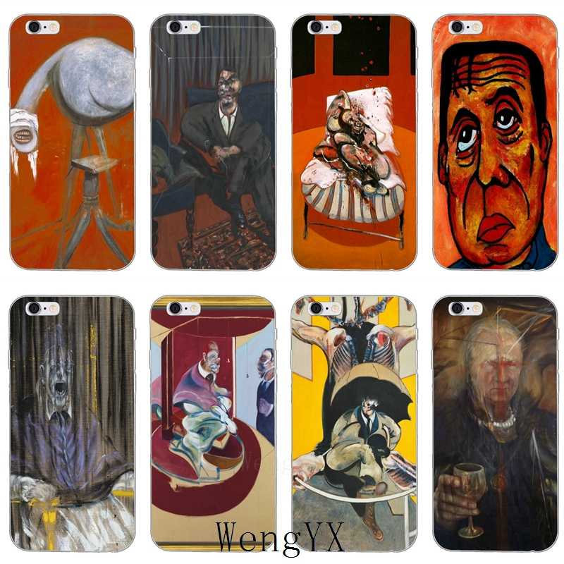 Francis Bacon paintings print slim Ultra Thin TPU Soft phone cover case For iPhone 4 4s 5 5s 5c SE 6 6s 7 8 plus X XR XS Max