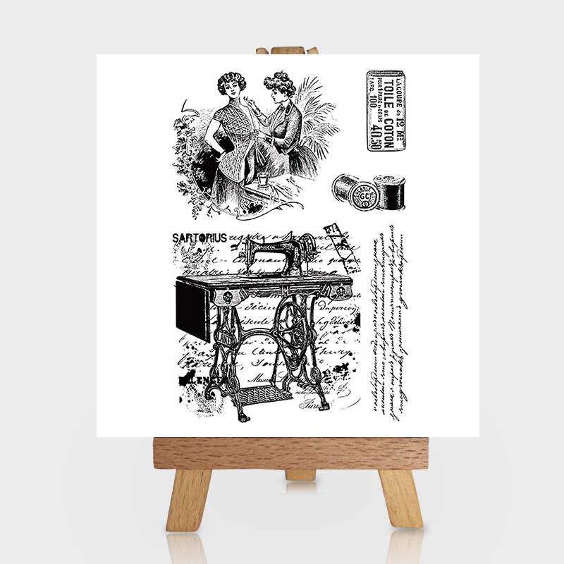 Lady Tailor in Milan Clear Stamps for Scrapbooking DIY Silicone Seals Photo Album Embossing Folder Paper Maker Template Crafts