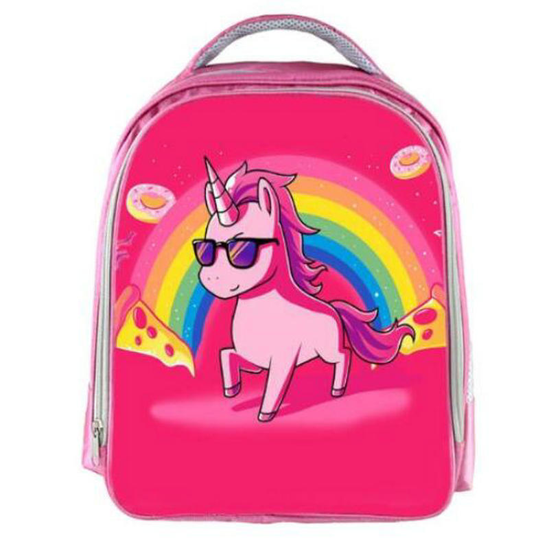 13inch Anime Unicorn Backpack Boys Girls Cartoon Kindergarten Backpacks Rainbow Kids School Bags Bookbag 3d cartoon plush children backpacks kindergarten schoolbag animal kids backpack children school bags girls boys backpacks 2017