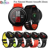 Banda de muñeca deportiva para reloj inteligente Xiaomi, banda de silicona de 22mm para huami Amazfit Stratos Pace 3 2 2S, Color