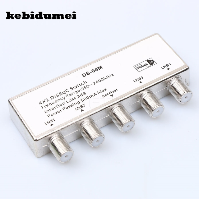 kebidumei Waterproof Diseqc Switch 4x1 strong diseqc multiswitch satellite antenna flat LNB Switch for TV Receiver