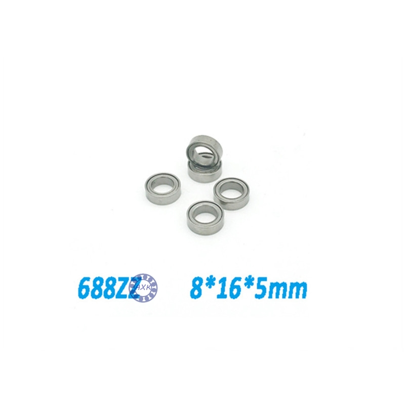 где купить  Free shipping  10pcs 688ZZ 688Z 688 688-2Z  8*16*5 Miniature Ball Radial Deep Groove Ball Bearings L1680ZZ  по лучшей цене