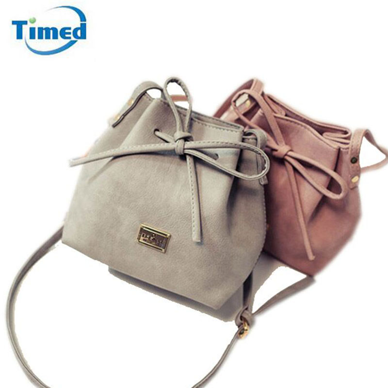 Women Bags 2017 New Spring Summer Bow Drawstring Bucket Bags Small Cross-body Bag Fashion Trend Brief Shoulder Bag For Lady squirrel fashion bucket canvas girls cross body shoulder bag vogue pattern brand casual versatile drawstring women handbags