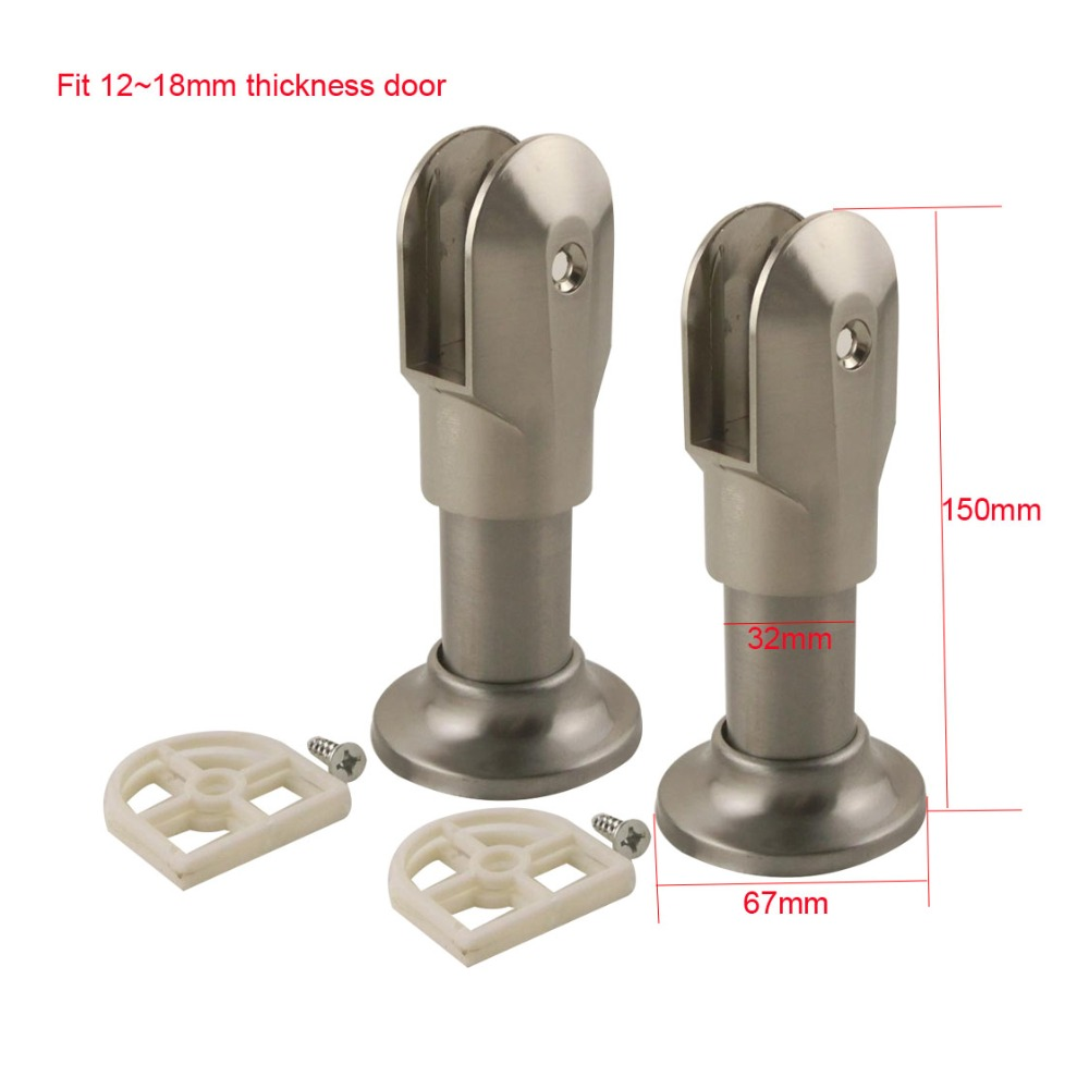 Toilet Accessories Us 15 27 17 Off 2pcs Support Bracket Leg Zinc Alloy Public Toilet Accessories For Wc Partition Fit 12 18mm Thickness Door In Brackets From Home