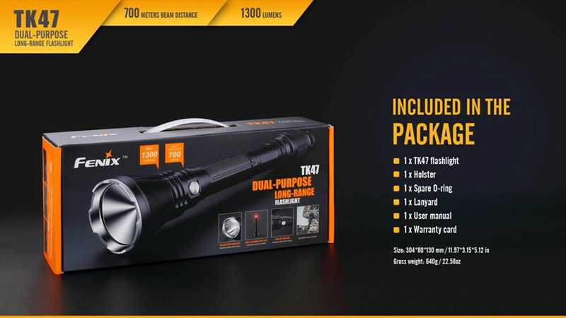Fenix TK47 700 Meters Beam Distance Long Range Flashlight (21)