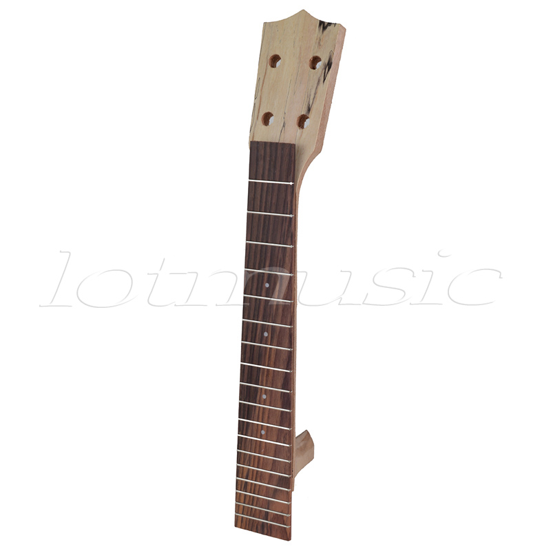Neck and Fretboard for 26 Inch Tenor Ukulele Hawaii Guitar Parts Replacement Maple Wood and Rosewood neck and fretboard fingerboard for 26 inch tenor ukulele hawaii guitar parts maple and rosewood 18 fret