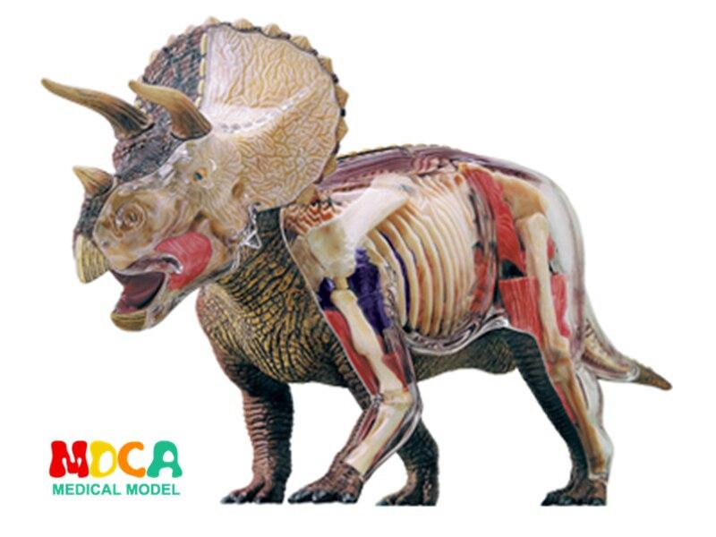 Большой Трицератопс 4d master головоломка Сборка игрушки животных Пособия по биологии динозавров орган анатомическая модель медицинская моде
