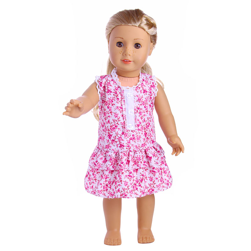 Flower dress for 18 inch American girl doll , Children the best Christmas gift