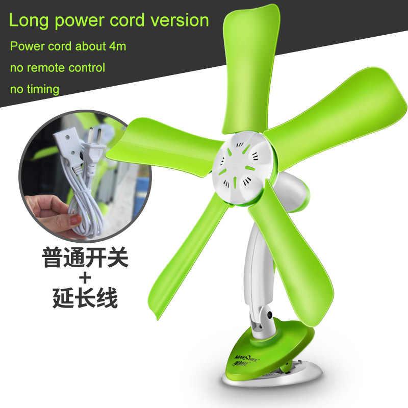 Verde 220 V 10 w de poupança de energia de controle remoto opcional mudo ventilador Elétrico ventilador Clipe