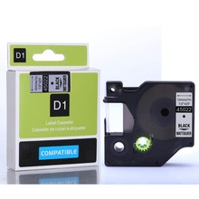 Compatible Dymo D1 Tapes Cartridge 12mm Black on Sliver for dymo 45022