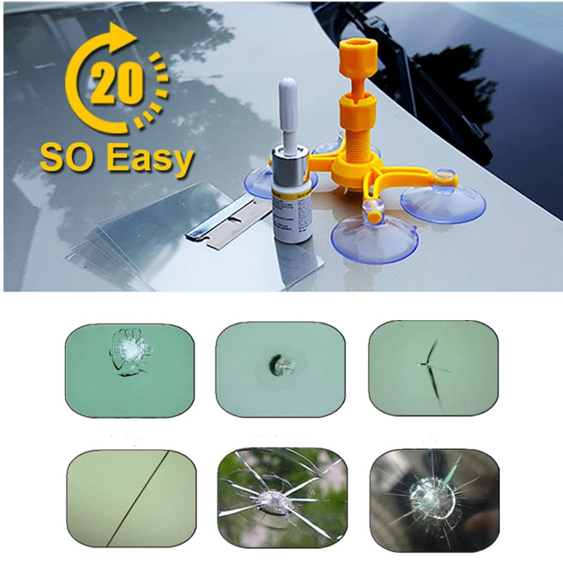 Fast Car Windshield Repair Tool Kits Seamless Restore Hole Crack Scratch On Windscreen Glass Broken Removal DIY Styling