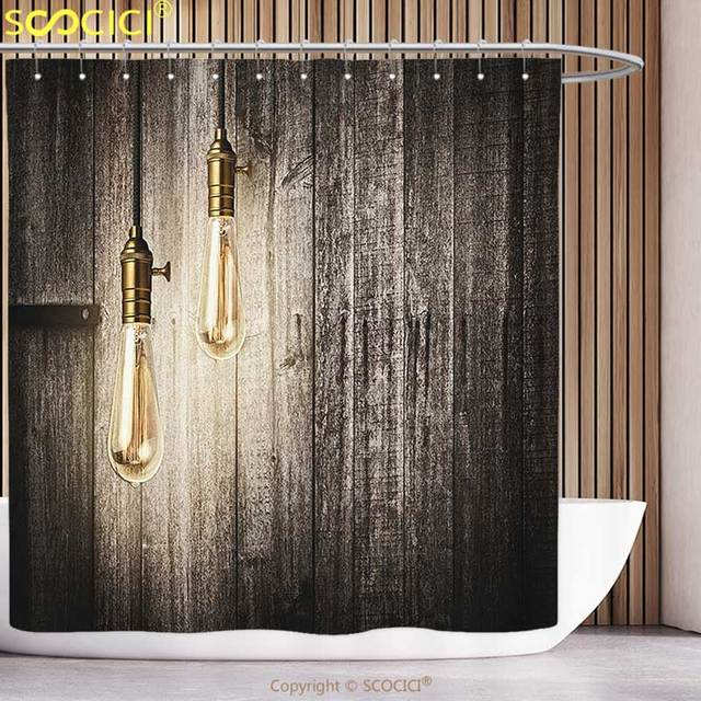 Waterproof Shower Curtain Industrial Decor Historical Innovation ...