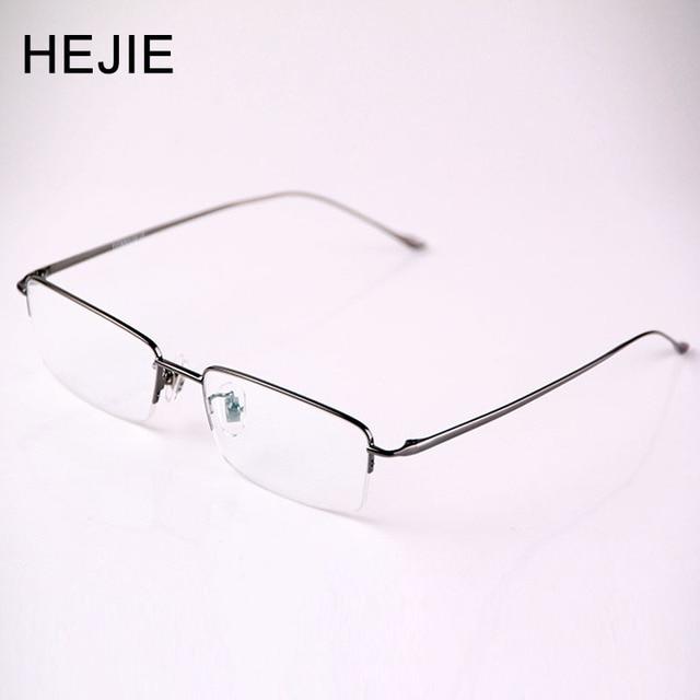 998eb8206a3a Business Men Pure Titanium Eyeglasses Frames Brand Myopia Glasses Frame For  Male Size 54-17-140 Y1008