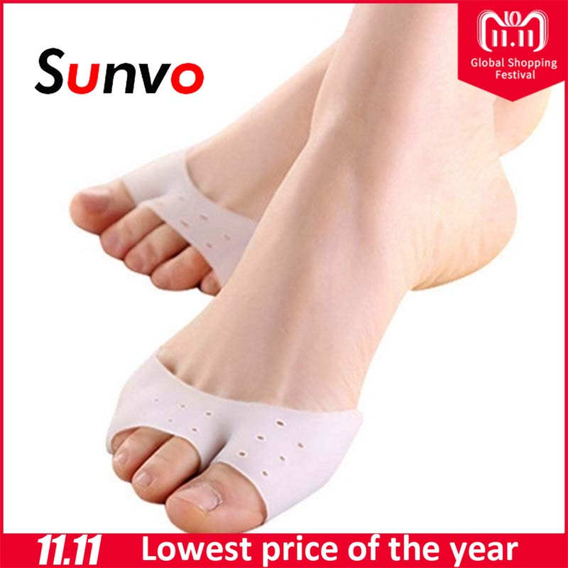 цены Sunvo Professional Silicone Gel Toes Separator fot Hallux Valgus Orthotic Insoles Toe Correction Cushion Forefoot Pad Inserts