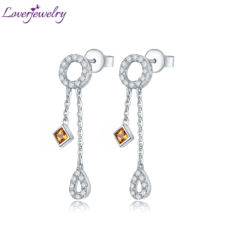 Lovely Yellow Sapphire Earring Charming Diamond Engagement Fine Jewelry for Wife Birthday Anniversary Gift globo декоративная настольная лампа globo 28188