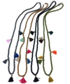 2017 New womens colothing accessories jewelry Bohemia Boho rosary beaded Necklaces multicolor beads tassel pendants Necklaces