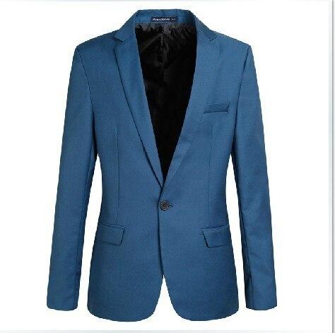 2016 Новое Прибытие Повседневная Блейзер Мода Марка Бизнес Slim Fit Куртка Костюмы Мужские Blazer Кнопка Пальто Костюм Мужчины Формальное пиджак