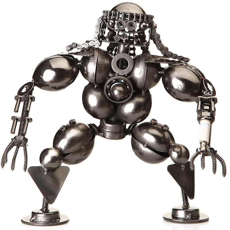 Фотография 24cm Metal Monster Robbot Western Style Home Club Table Decoration Aircraft Gift