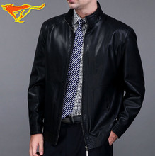 2017 spring and autumn men's high quality faux leather top stand collar jackets and coats free shipping