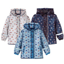 New baby boys girls raincoat poncho printed children tpu leather waterproof windproof jackets children outerwear children jackets