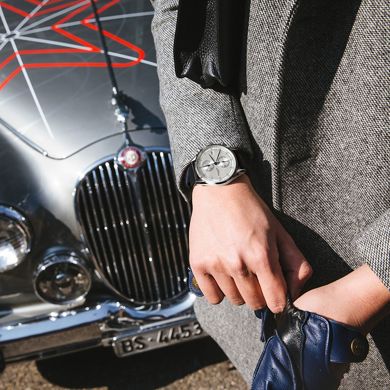Nieuw Zilver Bezelleer Lederen Band Polshorloge Zwitserse - Herenhorloges - Foto 5