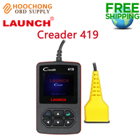 New Launch CReader 419 OBD2 Code Reader Diagnostic Scanner with Manufacturer Specific DTCs Multilingual support online Update