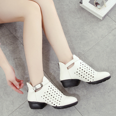 Dance Shoes Woman Leather Sports Shoes Square Soft Bottom Shoes Sneaker Dancing Shoes Increased Modern Dance Boots Sneakers Multan