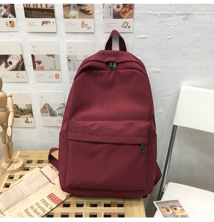 2019 Backpack Women Backpack Solid Color Women Shoulder Bag Fashion School Bag For Teenage Girl Children Backpacks Travel Bag