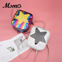 2018 Women Hologram Laser Transparent STAR Shape Kpop Ulzzang Harajuku Backpacks Lolita Ita Bag Schoolbag