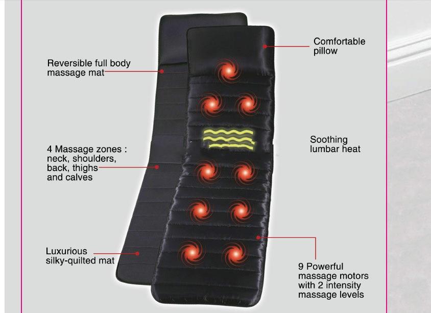 The new 2015 household 9 vibration motor body far infrared heating health massage mattress