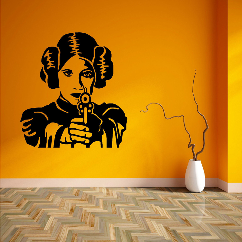 PRINCESS LEIA STAR WARS vinyl wall art room sticker decal movie themed F707 image