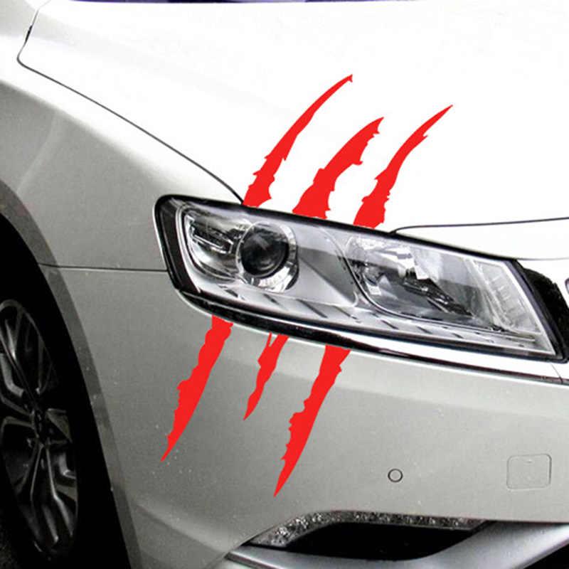 40cmX12cm Mobil Lucu Stiker Reflektif Rakasa Awal Garis Tanda Cakar Mobil Auto Lampu Dekorasi Vinyl Decal Stiker Mobil