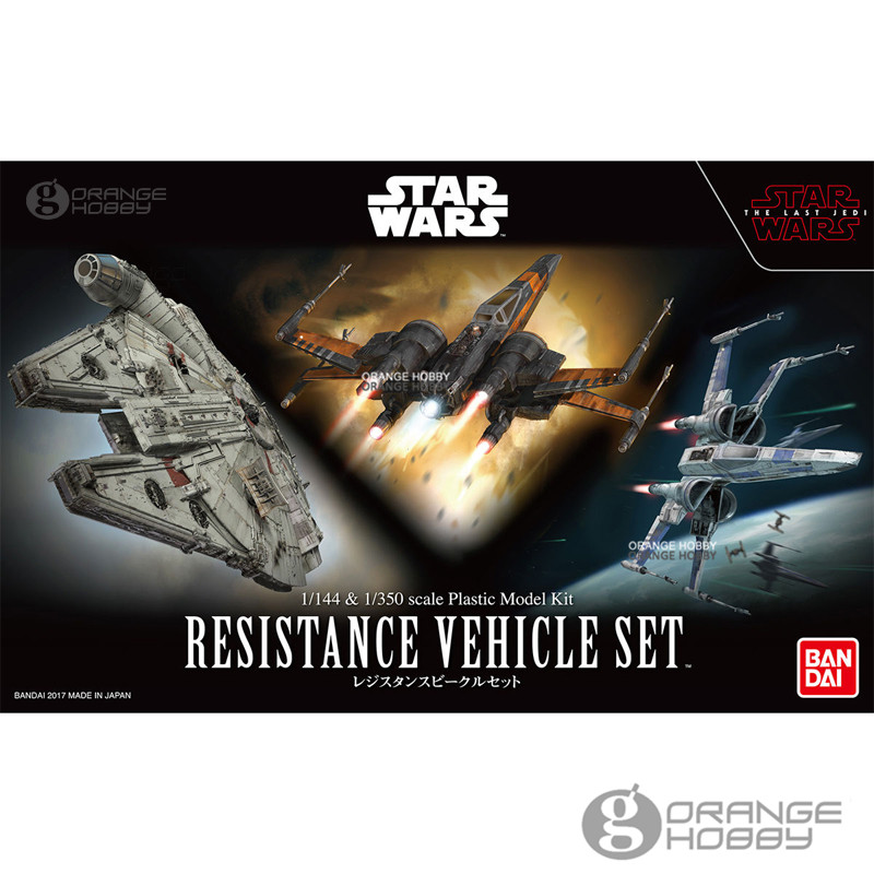 OHS Bandai jeu de véhicules résistants   Star War 1/144 et 1/350, échelle de montage en plastique, Kits de modèles oh