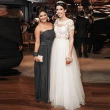 2016 Elegant White/Ivory O-Neck A-Line Wedding dresses Plus Size Short Sleeve Lace Bridal Gown Robe de mariage Vestidos de novia