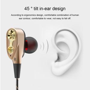 Image 5 - TEBAURRY مزدوجة وحدة محرك في الأذن سماعة باس مضخم صوت سماعة للهاتف DJ mp3 سماعات أذن رياضية سماعة ياربود الأذنية