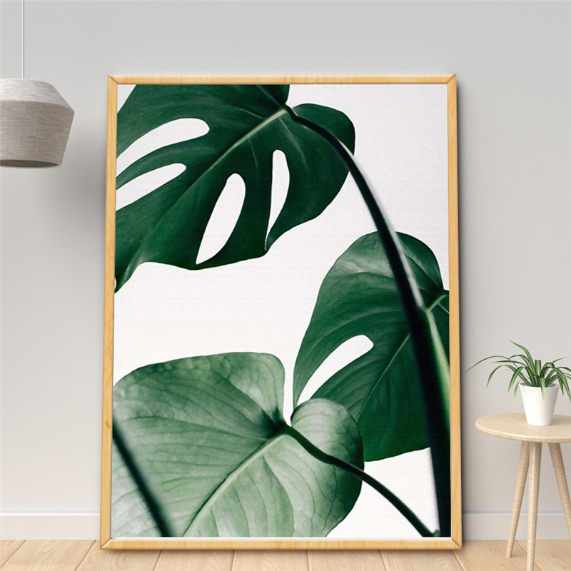 Online-Shop Minimalistischen Leinwand Grün Pflanzen Blatt Monstera ...